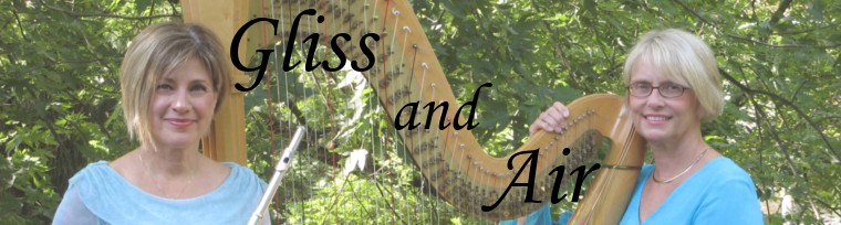Gliss and Air, Duo for Harp and Flute, Fine Classical Music for Weddings and Special Occasions, Lancaster, PA